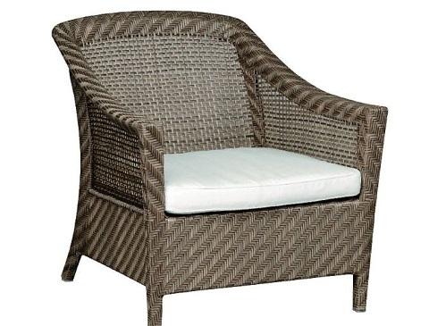 Плетеное кресло Aruba с мягким сиденьем